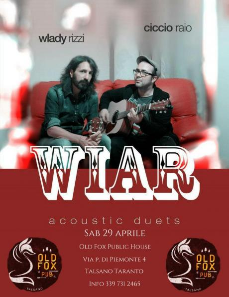 Wiar Acoustic Duo live at Old Fox Public House