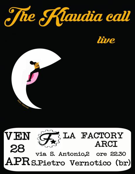 The Klaudia call live Arci LaFactory