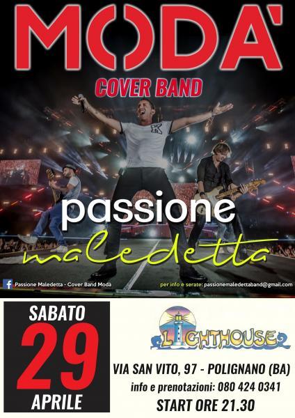 Passione Maledetta - Cover Band Modà live Lighthouse Pub Pizzeria-Ristorante