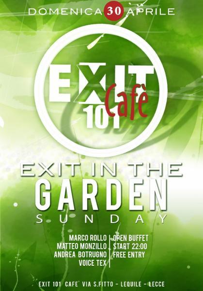 L'Exit 101 Cafè apre i giardini col sound commerciale di Marco Rollo, Andrea Botrugno e Matteo Monzillo