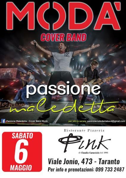 """I """"Passione maledetta"""", il 6 maggio, per una cena spettacolo al PINK"""