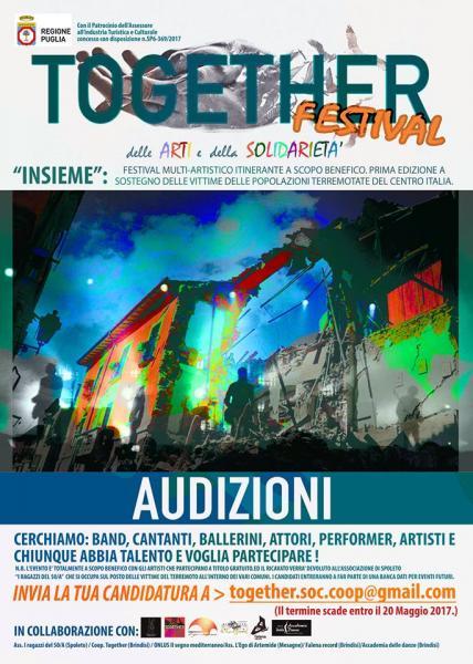 """""""TOGETHER"""" - Festival delle arti e della solidarietà"""
