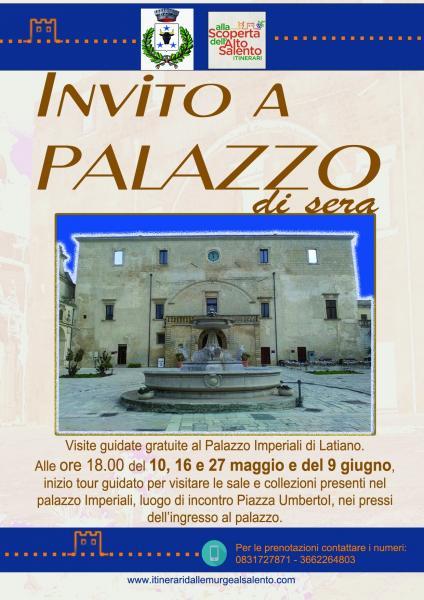 Invito a Palazzo di sera - visite guidate gratuite di Palazzo Imperiali