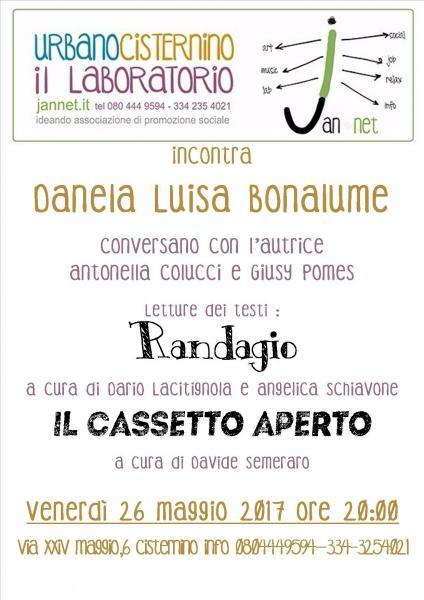 Daniela Luisa Bonalume autrice di Randagio e Il Cassetto Aperto