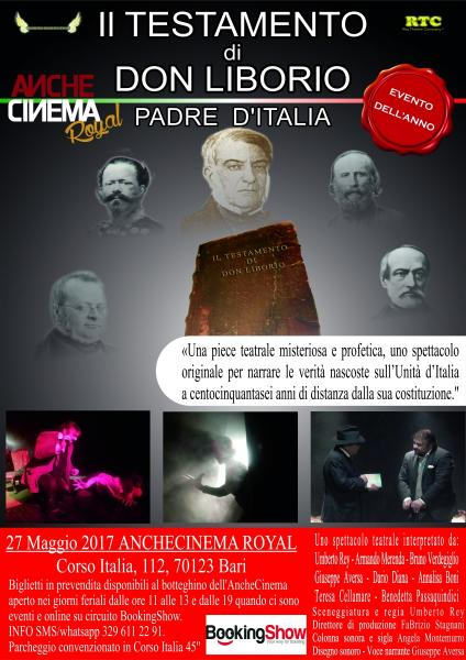 Il testamaneto di Don Liborio in scena all'AncheCinema Royal