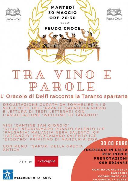 """""""TRA VINO E PAROLE. L'oracolo di Delfi racconta la Taranto spartana"""""""