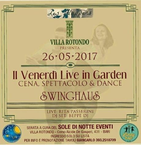 Venerdi live in Garden, Swinghaus