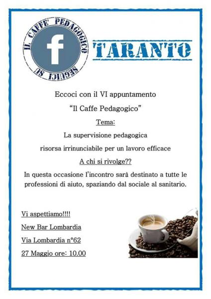 VI caffè Pedagogico Taranto