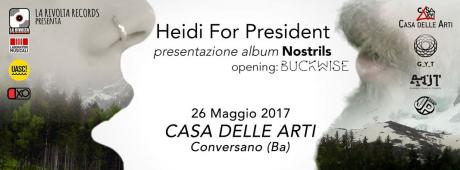 HEIDI for President live presentano Nostrils // opening music Buckwise // opening talk Tellus