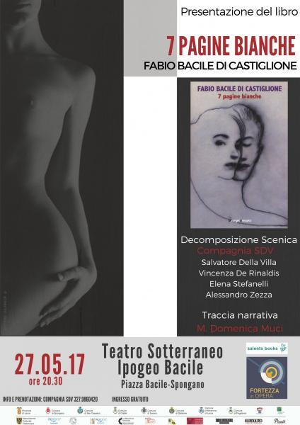 7 PAGINE BIANCHE - presentazione del libro di Fabio Bacile di Castiglione