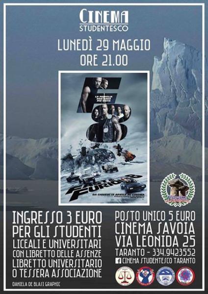 Fast & Furious 8, in rassegna al cinema Savoia
