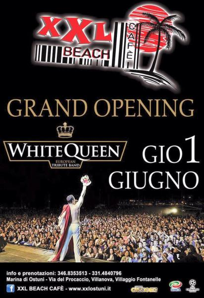 Grand Opening 2017 White Queen at XXL Beach Cafe