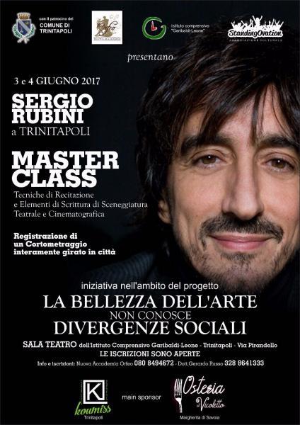 Masterclass con Sergio Rubini. Cinema e teatro per fare cultura e integrazione