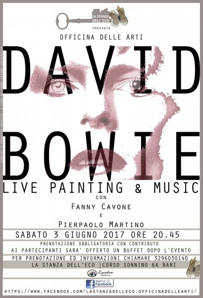 DAVID BOWIE live painting & music