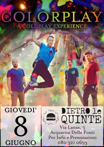 Colorplay a Coldplay Experience live al Dietro le quinte