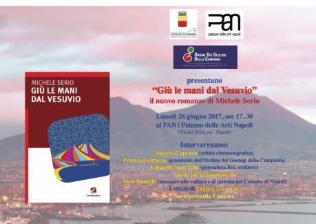 """Prima presentazione di """"Giù le mani dal Vesuvio"""", il nuovo romanzo di Michele Serio"""