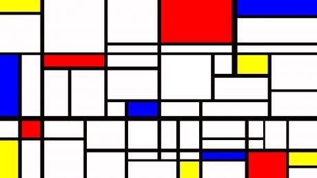 Piet Mondrian, laboratorio didattico artistico per bambini a cura di Lab Lib