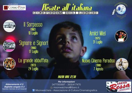 """Risate All' Italiana - Cineforum del Lunedi a Cura dei """"Moonwatchers"""" di Statte.centro di Cultura Cinematografica."""