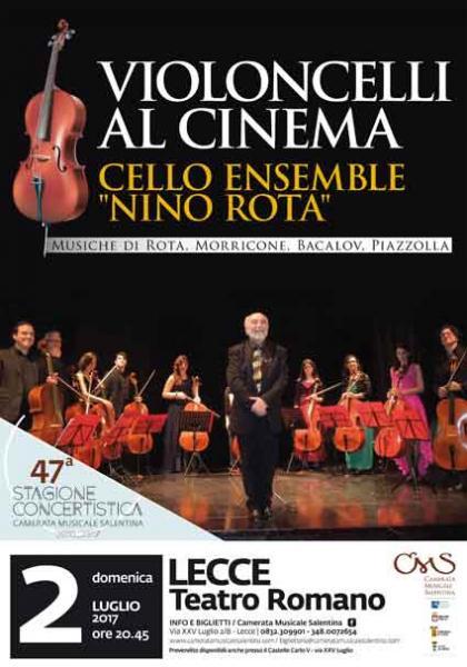 Violoncelli al Cinema - Domenica 2 Luglio al Teatro Romano di Lecce
