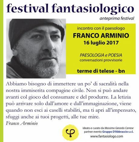 Festival fantasiologico (anteprima): Franco Arminio
