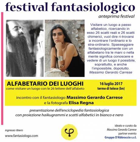 Festival fantasiologico (anteprima): Massimo Gerardo Carrese ed Elisa Regna