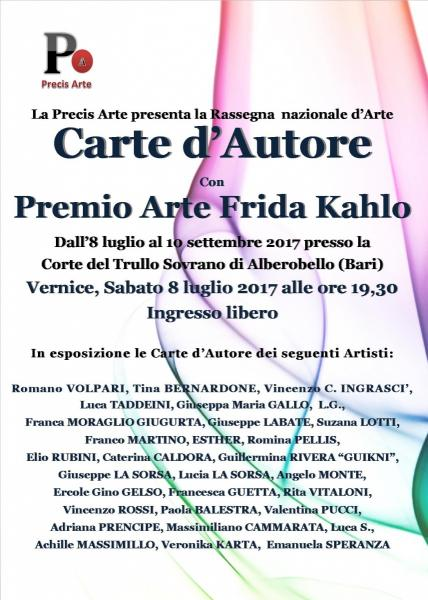 Carte d'Autore con Premio Arte Frida Kahlo