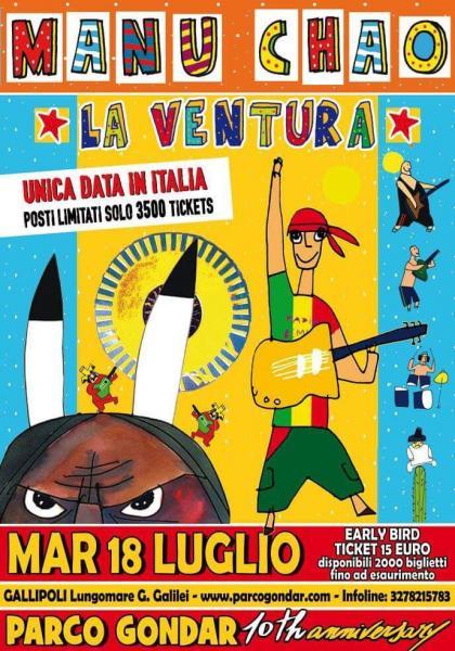 Manu Chao - unica data italiana -