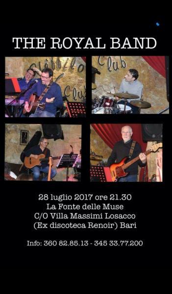 """MUSICA INTERNAZIONALE di Gran Livello con """"THE ROYAL BAND"""" alla Sede Estiva della """"FONTE DELLE MUSE"""" ex Villa RENOIR"""