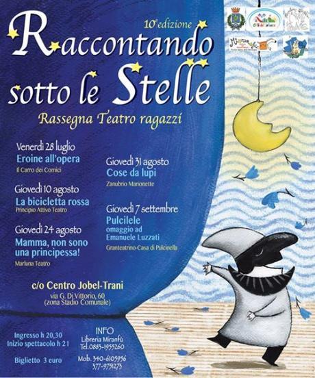 RACCONTANDO SOTTO LE STELLE - X edizione Teatro ragazzi
