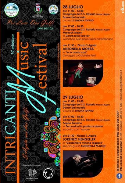 Intricanti Music Festival 2017 VI edizione 28 -29 luglio