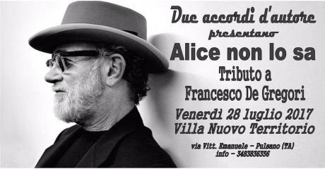 Alice non lo sa - Tributo a Francesco De Gregori