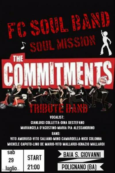 THE COMMITMENTS tribute band live at Baia San Giovanni a Polignano a Mare