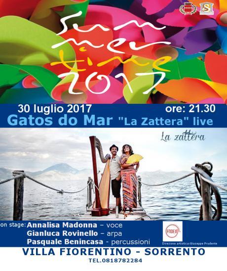 """Gatos do Mar """"La zattera"""" live - Summertime 2° edizione"""