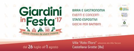 Giardini in Festa 2017: musica, intrattenimento, birra e gastronomia dal 26 luglio al 1°agosto