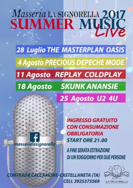 Masseria La Signorella Summer Music Live 2017