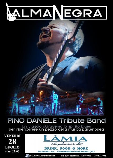 ALMANEGRA Pino Daniele Tribute Band al Ristorante, Bar, Braceria Làmia