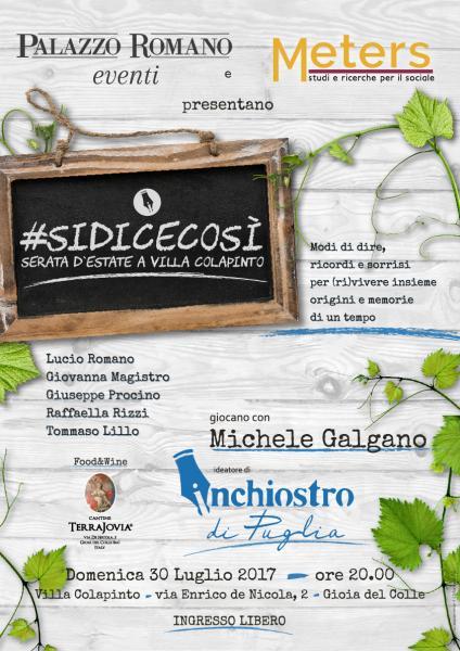 #SiDiceCosi'  Inchiostro di Puglia