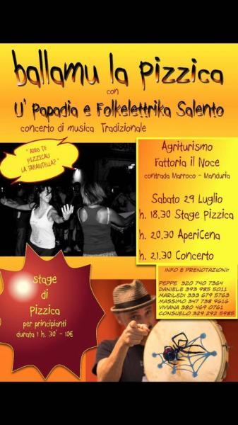 Ballamu la Pizzica! U'Papadio e Folkelettrika Salento in concerto + stage!