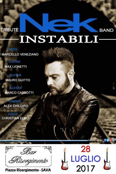 "Instabili Nek Tribute Band ""Unici live 2017"""