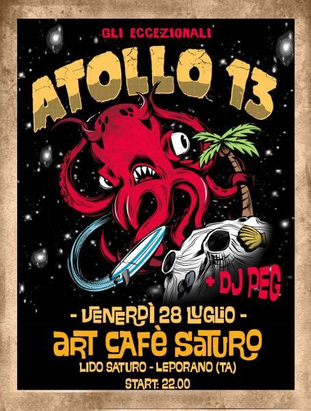 Atollo13 concerto Surf & Roll + Dj Peg