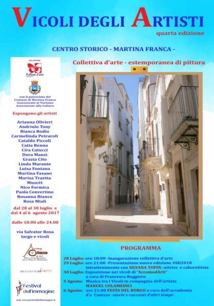 'Vicoli degli artisti', quarta edizione. Arte, musica e cultura nel centro storico