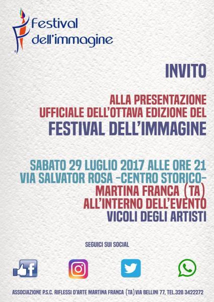 Presentazione ufficiale 'Festival dell'immagine 2018' (ottava edizione)