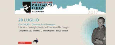 I Rimmel: Omaggio ai cantautori italiani.. De Gregori, Lucio Dalla, De Andrè, Rino Gaetano, Lucio Battisti, Bennato con Gianrico Carofiglio