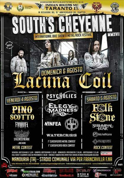 Lacuna Coil -  Folkstone - Pino Scotto al South's Cheyenne