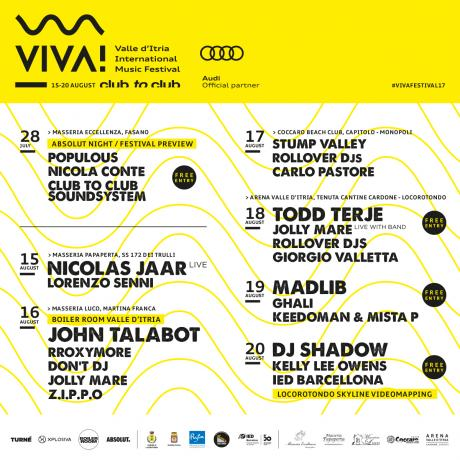 VIVA! Festival 2017 - Stump Valley / Rollover DJs / Carlo Pastore