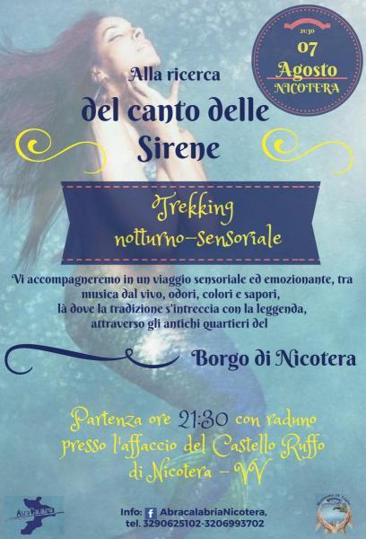 """Trekking notturno-sensoriale """"Alla ricerca del canto delle Sirene"""""""