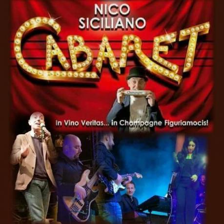"""Cabaret Musicale con       NICO SICILIANO e la sua band """"CHIAVE DI BOSSA"""" in """"VINO VERITAS....in CHAMPAGNE FIGURIAMOCIS"""" alla Sede Estiva della FONTE DELLE MUSE. Ex Villa RENOIR Bari."""