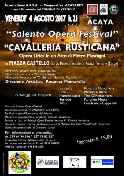 "Salento Opera Festival. ""Cavalleria Rusticana"""