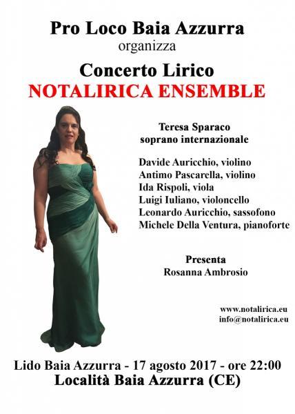 Concerto Lirico Notalirica Ensemble
