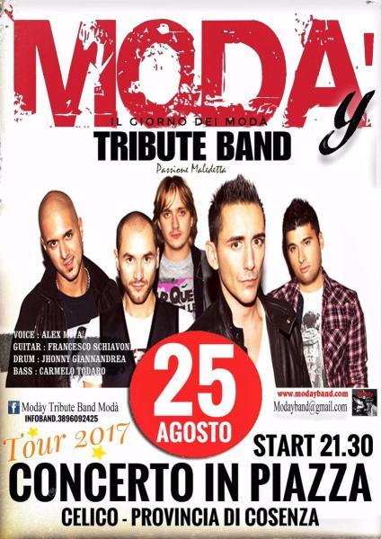 Modày Tributo Modà in concerto//CELICO (cs) 25/08/2017